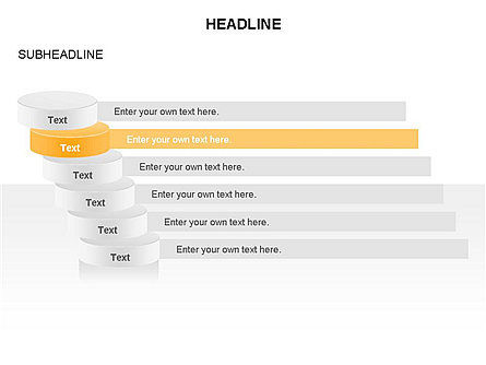 Sliced Agenda Toolbox, Slide 4, 03379, Stage Diagrams — PoweredTemplate.com