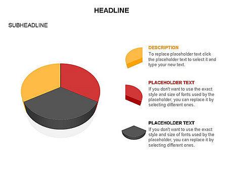 Pie Diagram Toolbox, Slide 13, 03380, Pie Charts — PoweredTemplate.com
