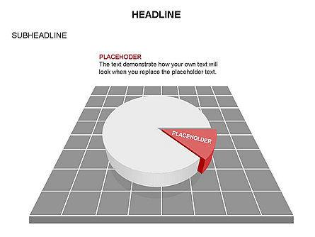 Pie Diagram Toolbox, Slide 14, 03380, Pie Charts — PoweredTemplate.com