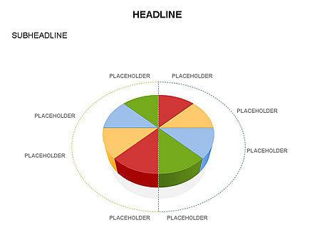 Pie Diagram Toolbox, Slide 17, 03380, Pie Charts — PoweredTemplate.com
