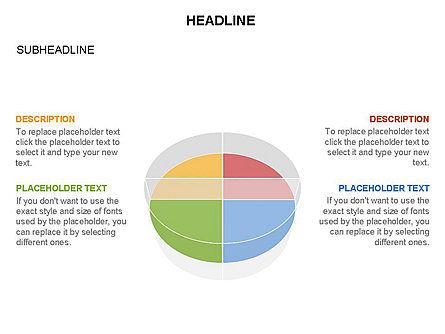 Pie Diagram Toolbox, Slide 19, 03380, Pie Charts — PoweredTemplate.com