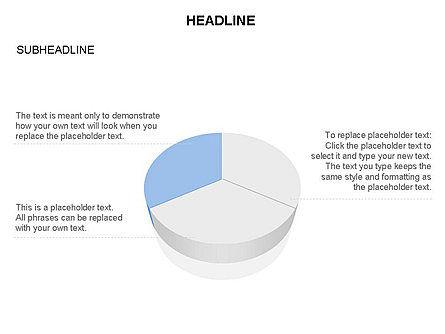 Pie Diagram Toolbox, Slide 2, 03380, Pie Charts — PoweredTemplate.com
