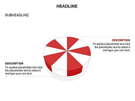 Pie Diagram Toolbox, Slide 21, 03380, Pie Charts — PoweredTemplate.com