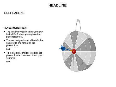 Pie Diagram Toolbox, Slide 28, 03380, Pie Charts — PoweredTemplate.com