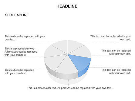 Pie Diagram Toolbox, Slide 4, 03380, Pie Charts — PoweredTemplate.com