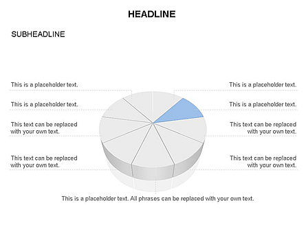 Pie Diagram Toolbox, Slide 5, 03380, Pie Charts — PoweredTemplate.com