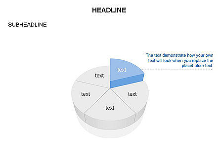 Pie Diagram Toolbox, Slide 8, 03380, Pie Charts — PoweredTemplate.com