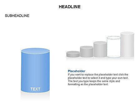 Cylinder Graph Chart Toolbox, Slide 10, 03382, Graph Charts — PoweredTemplate.com
