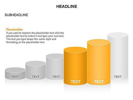 Cylinder Graph Chart Toolbox, Slide 11, 03382, Graph Charts — PoweredTemplate.com