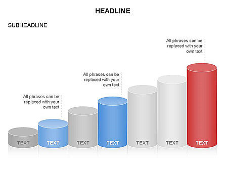 Cylinder Graph Chart Toolbox, Slide 12, 03382, Graph Charts — PoweredTemplate.com