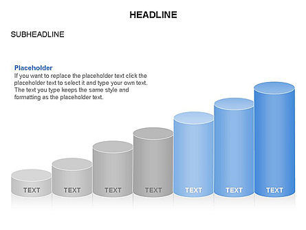 Cylinder Graph Chart Toolbox, Slide 13, 03382, Graph Charts — PoweredTemplate.com