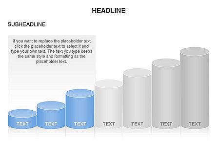 Cylinder Graph Chart Toolbox, Slide 14, 03382, Graph Charts — PoweredTemplate.com