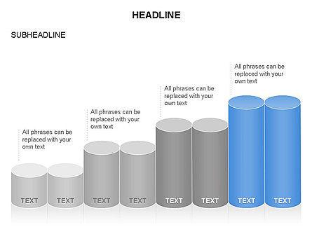 Cylinder Graph Chart Toolbox, Slide 15, 03382, Graph Charts — PoweredTemplate.com