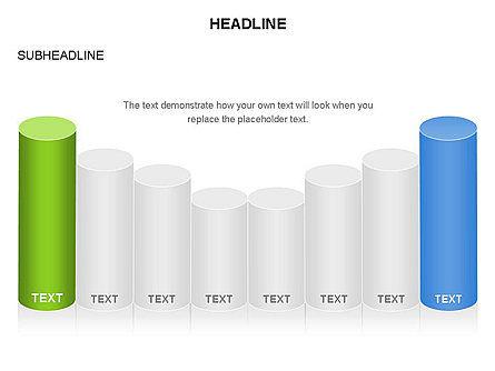 Cylinder Graph Chart Toolbox, Slide 16, 03382, Graph Charts — PoweredTemplate.com