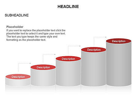 Cylinder Graph Chart Toolbox, Slide 17, 03382, Graph Charts — PoweredTemplate.com