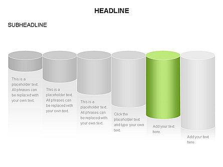 Cylinder Graph Chart Toolbox, Slide 18, 03382, Graph Charts — PoweredTemplate.com