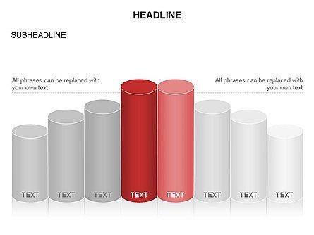 Cylinder Graph Chart Toolbox, Slide 19, 03382, Graph Charts — PoweredTemplate.com