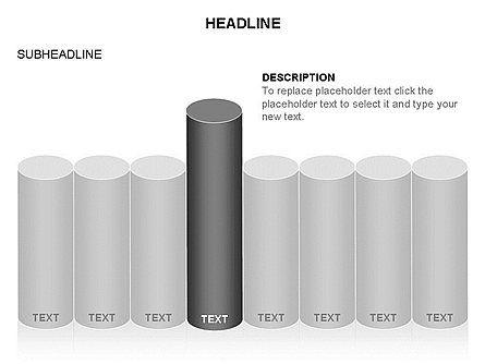 Cylinder Graph Chart Toolbox, Slide 20, 03382, Graph Charts — PoweredTemplate.com