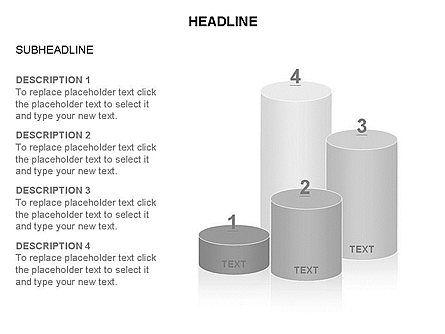 Cylinder Graph Chart Toolbox, Slide 21, 03382, Graph Charts — PoweredTemplate.com