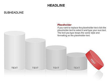 Cylinder Graph Chart Toolbox, Slide 22, 03382, Graph Charts — PoweredTemplate.com