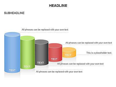 Cylinder Graph Chart Toolbox, Slide 23, 03382, Graph Charts — PoweredTemplate.com
