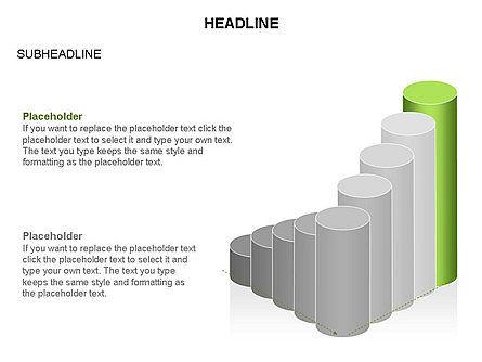 Cylinder Graph Chart Toolbox, Slide 24, 03382, Graph Charts — PoweredTemplate.com