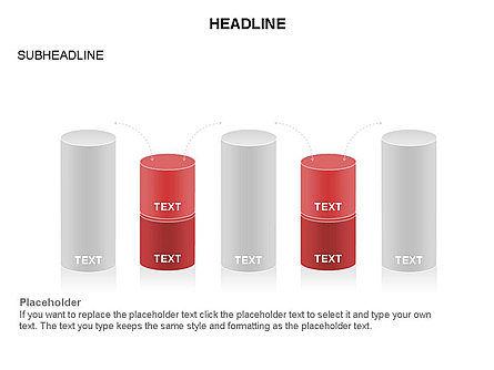 Cylinder Graph Chart Toolbox, Slide 25, 03382, Graph Charts — PoweredTemplate.com