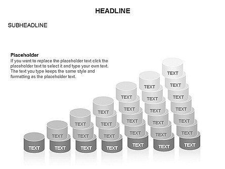 Cylinder Graph Chart Toolbox, Slide 27, 03382, Graph Charts — PoweredTemplate.com
