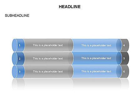 Cylinder Graph Chart Toolbox, Slide 28, 03382, Graph Charts — PoweredTemplate.com