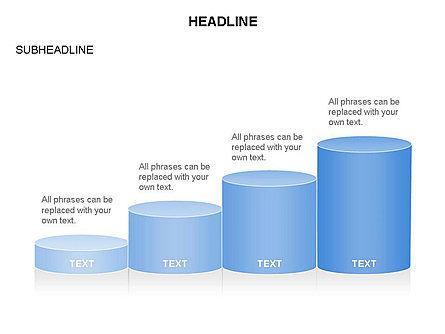 Cylinder Graph Chart Toolbox, Slide 5, 03382, Graph Charts — PoweredTemplate.com