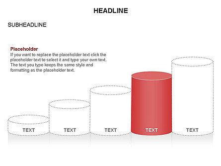 Cylinder Graph Chart Toolbox, Slide 6, 03382, Graph Charts — PoweredTemplate.com