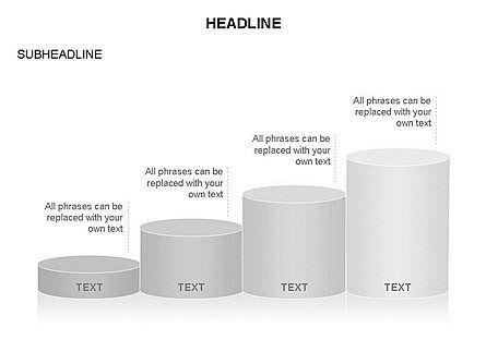 Cylinder Graph Chart Toolbox, Slide 8, 03382, Graph Charts — PoweredTemplate.com