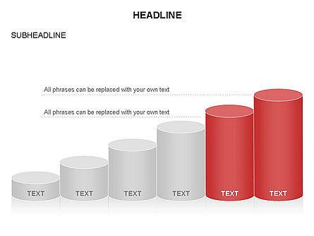 Cylinder Graph Chart Toolbox, Slide 9, 03382, Graph Charts — PoweredTemplate.com