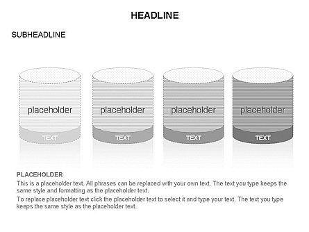 Cylinder and Platform Toolbox, Slide 14, 03383, Shapes — PoweredTemplate.com