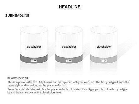 Cylinder and Platform Toolbox, Slide 15, 03383, Shapes — PoweredTemplate.com