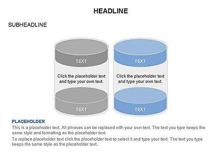 Cylinder and Platform Toolbox, Slide 16, 03383, Shapes — PoweredTemplate.com