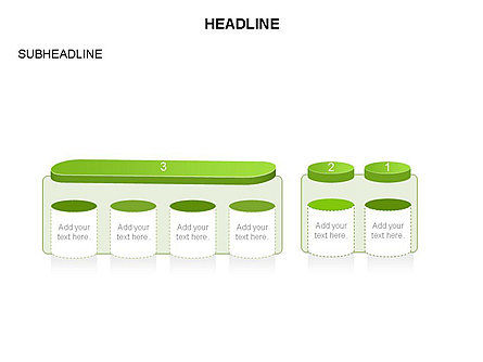 Cylinder and Platform Toolbox, Slide 17, 03383, Shapes — PoweredTemplate.com