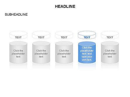 Cylinder and Platform Toolbox, Slide 3, 03383, Shapes — PoweredTemplate.com