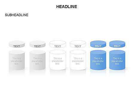 Cylinder and Platform Toolbox, Slide 5, 03383, Shapes — PoweredTemplate.com