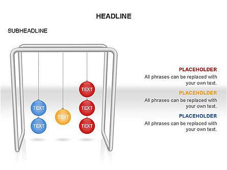 Newtons Cradle Toolbox, Slide 28, 03391, Business Models — PoweredTemplate.com