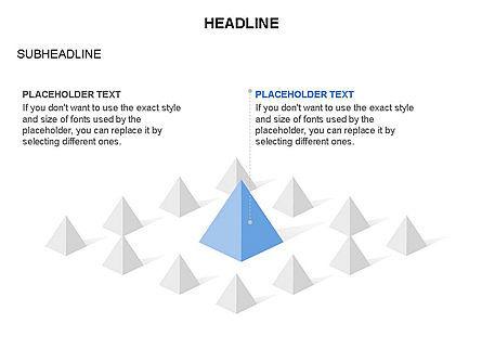 Lined Up Pyramids Toolbox, Slide 10, 03397, Shapes — PoweredTemplate.com