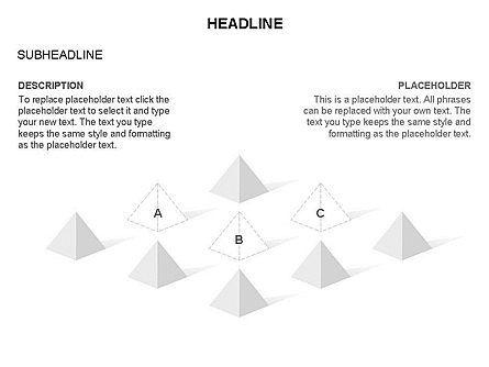 Lined Up Pyramids Toolbox, Slide 11, 03397, Shapes — PoweredTemplate.com