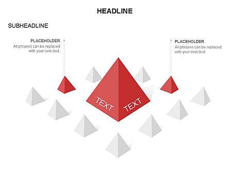 Lined Up Pyramids Toolbox, Slide 12, 03397, Shapes — PoweredTemplate.com