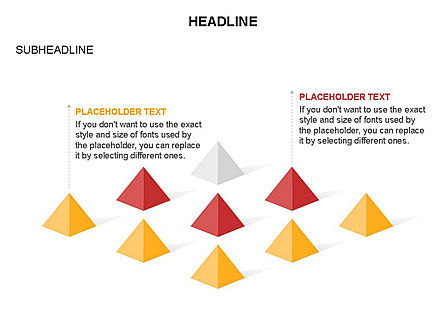 Lined Up Pyramids Toolbox, Slide 13, 03397, Shapes — PoweredTemplate.com