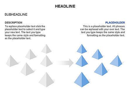 Lined Up Pyramids Toolbox, Slide 14, 03397, Shapes — PoweredTemplate.com