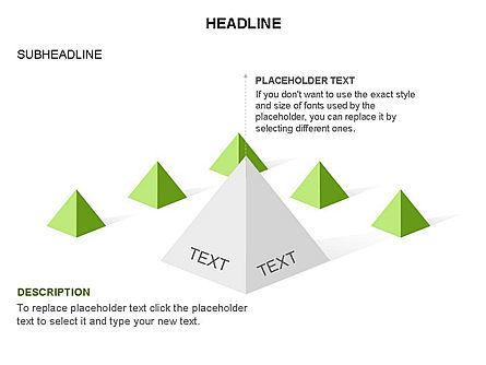 Lined Up Pyramids Toolbox, Slide 15, 03397, Shapes — PoweredTemplate.com