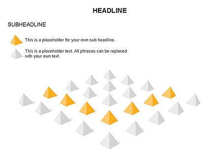Lined Up Pyramids Toolbox, Slide 16, 03397, Shapes — PoweredTemplate.com