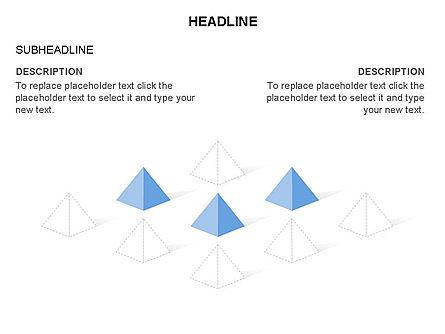 Lined Up Pyramids Toolbox, Slide 17, 03397, Shapes — PoweredTemplate.com