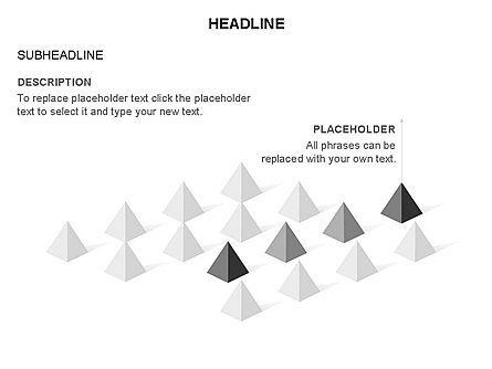 Lined Up Pyramids Toolbox, Slide 19, 03397, Shapes — PoweredTemplate.com