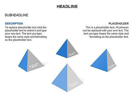 Lined Up Pyramids Toolbox, Slide 20, 03397, Shapes — PoweredTemplate.com